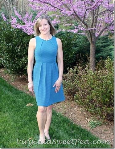 April Stitch Fix Blue Dress
