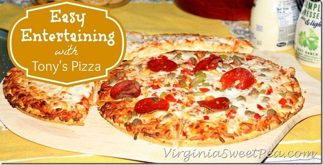 Easy Entertaining with Tony's Pizza by virginiasweetpea.com