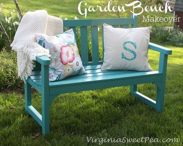 Sweet Pea | Garden Bench Makeover