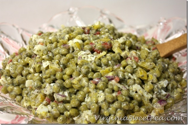 Easy Pea Salad by virginiasweetpea.com