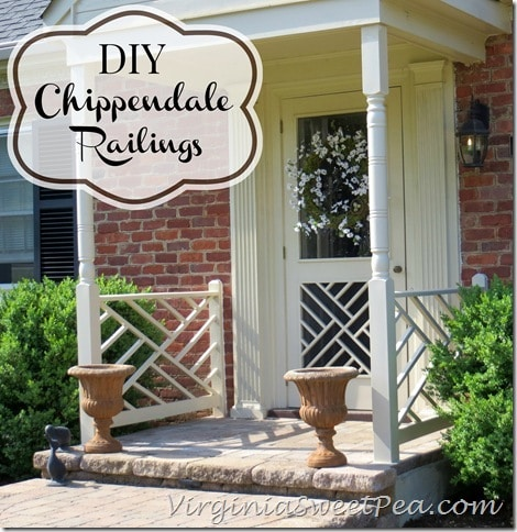 DIY Chippendale Railings by virginiasweetpea.com & DIY Chippendale Railings - Sweet Pea