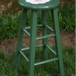 Floral Painted Bar Stool