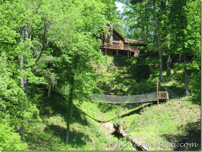 House with Swinging Bridge at Smith Mountain Lake