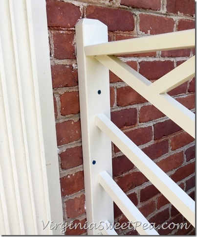 Attaching Chippendale Railings to Brick