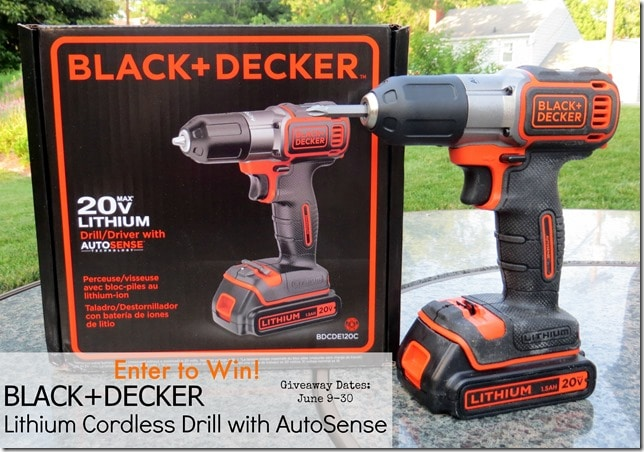 Black Decker Lithium Cordless Drill with AutoSense Giveaway
