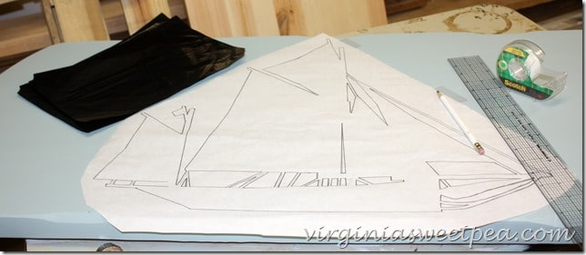 Boat Sketch on Coffee Table