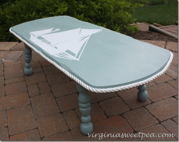 Nautical Themed Coffee Table Makeover Sweet Pea