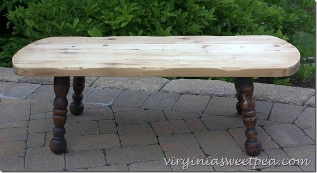 Coffee Table Makeover with Sanded Top