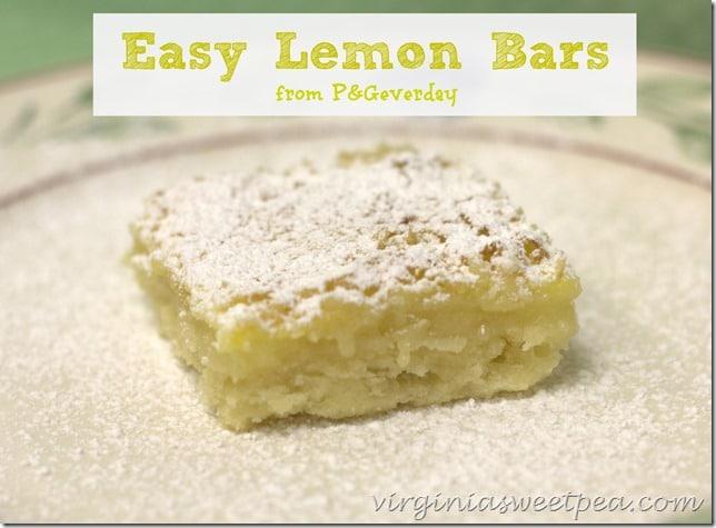 Easy Lemon Squares from P&Geverday