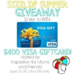 Sizzlin' Summer $400 Visa Gift Card Giveaway!