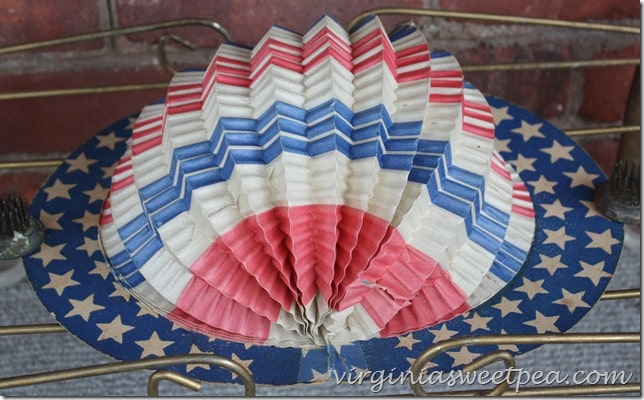 Vintage Red, White, and Blue Hat