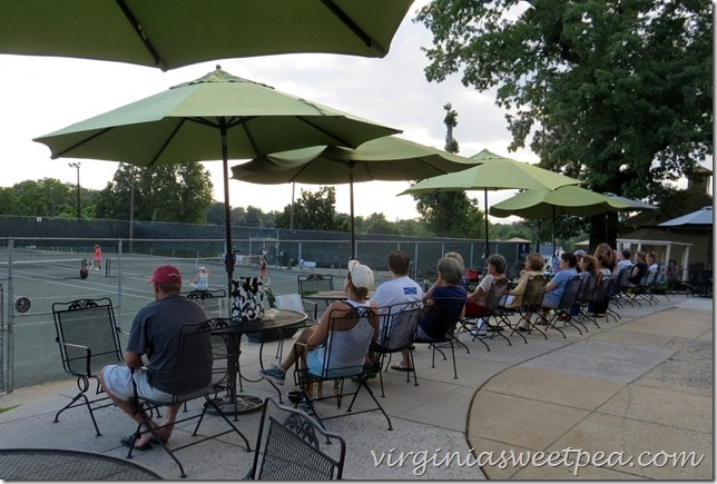 Watching tennis at OCC