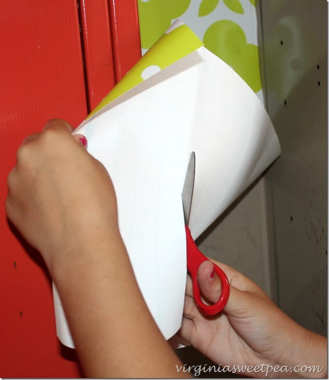 7th Grade Locker - Cut paper on the lines