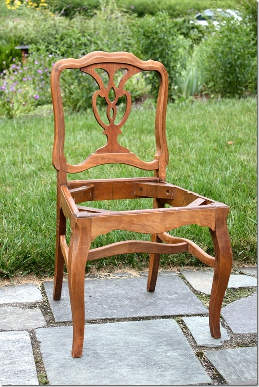 Chair After Stripping and Staining