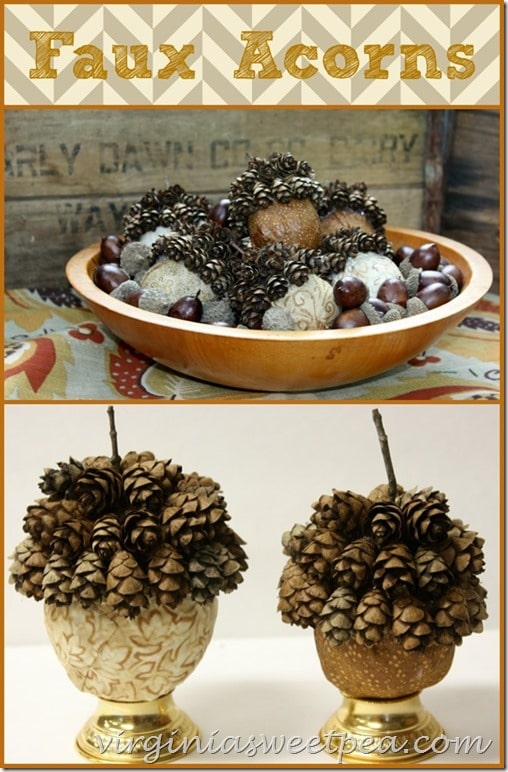 DIY Faux Acorns by virginiasweetpea.com