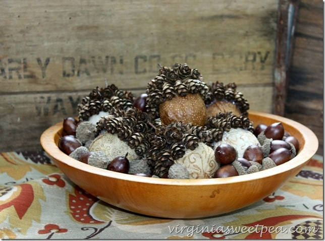 Faux Acorns in Bowl3
