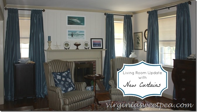 Living Room Update with New Curtains at virginiasweetpea.com