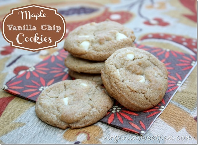 Maple Vanilla Chip Cookies