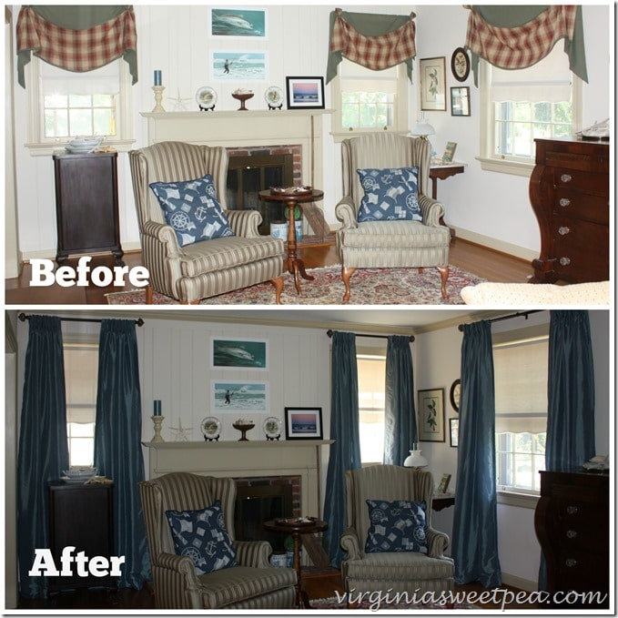 New Drapes - Before and After