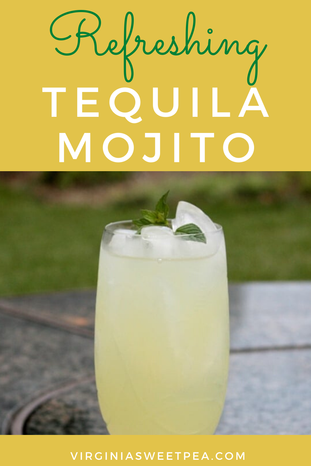 Tequila Mojito - A tequila mojito is a refreshing summer cocktail.  Lime juice, Sprite, tequila, and mint syrup are combined to make this tasty treat.  #tequilamojito #mojito via @spaula