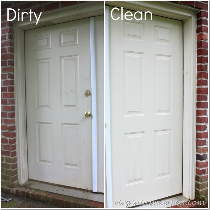 Basement Doors - Dirty and Cleaned