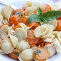Easy Cherry Tomato Pasta Sauce by virginiasweetpea.com