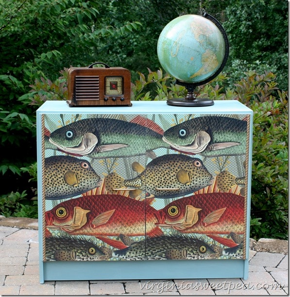 Fish Themed Furniture Makeover