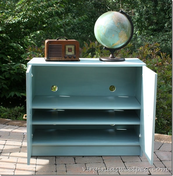 Crate and Barrel Stereo Cabinet Made over with Chalk Paint