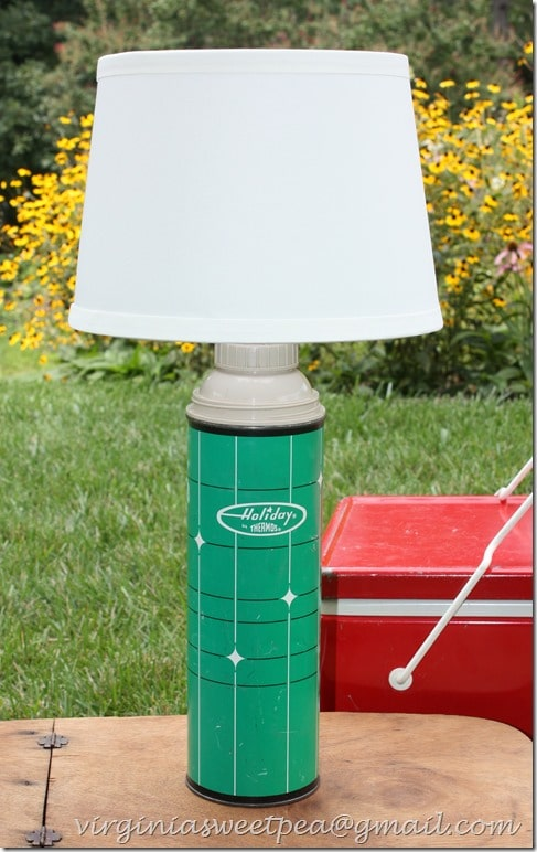 Lamp Made from a Vintage Thermos