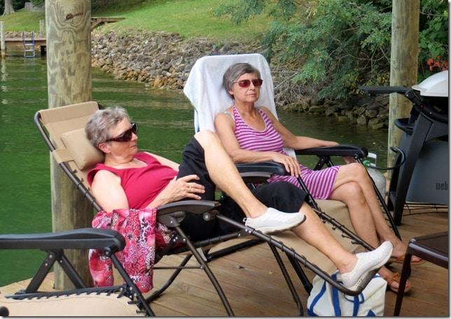 Mama and Judy relax at SML
