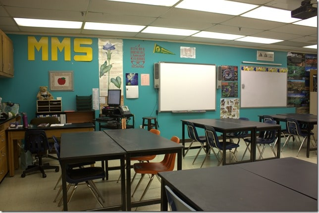 My Monelison Middle School Classroom