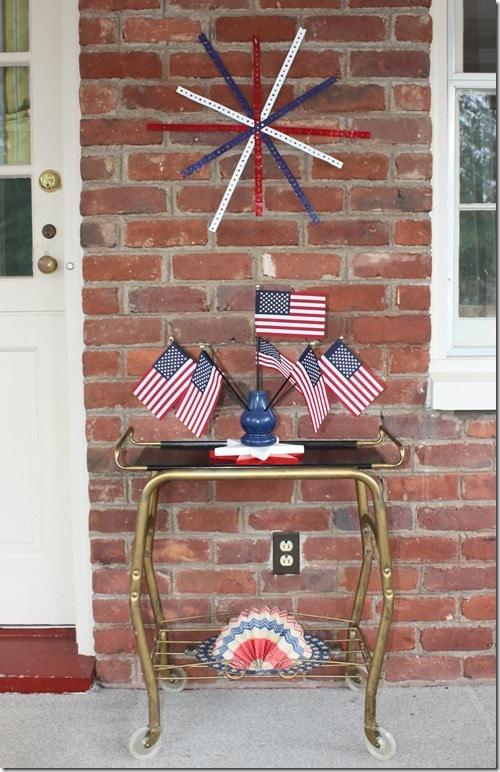 Patriotic Industrial Star on Porch