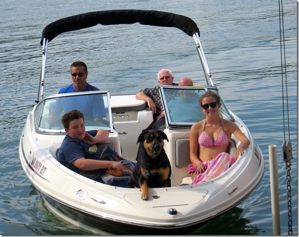 Family fun at smith mountain lake sweet pea for Best boat for fishing and family fun