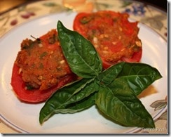 Delicious Stuffed Tomatoes by virginiasweetpea.com