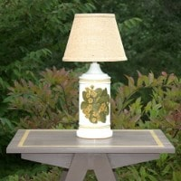 Vintage Primrose Themed Lamp by virginiasweetpea.com