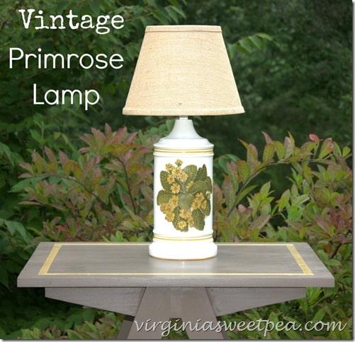 Vintage Primrose Lamp by virginiasweetpea.com
