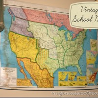 Vintage School Map from VES in Lynchburg, VA by virginiasweetpea.com