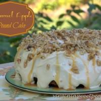 Caramel Apple Pound Cake by virginiasweetpea.com