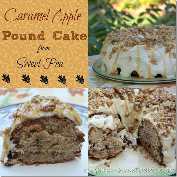 Caramel Apple Pound Cake from virginiasweetpea.com
