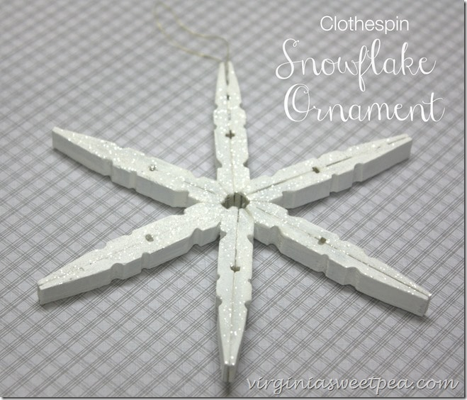 Clothespin Snowflake Ornament by virginiasweetpea.com