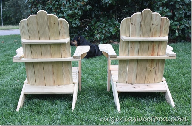 DIY Adirondack Chair Backs by virginiasweetpea.com