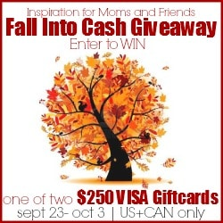 Fall Into Cash $250 Visa Gift Card Giveaway