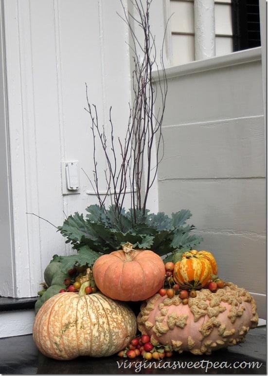 Fall Front Porch Arrangment