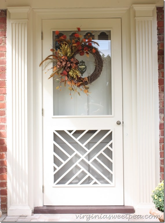 Fall Front Door by virginiasweetpea.com