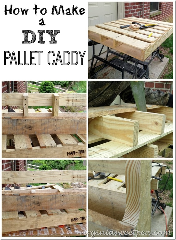 How to Make a DIY Pallet Caddy by virginiasweetpea.com
