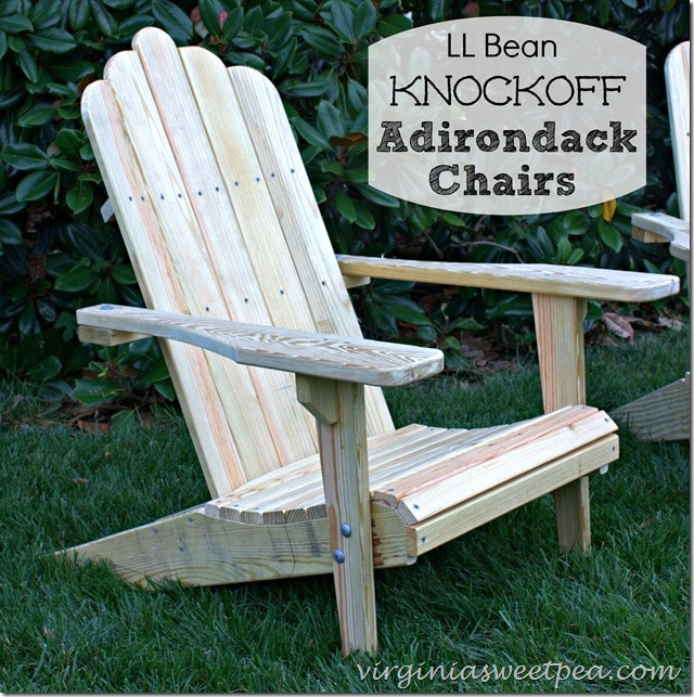 LL Bean Knockoff Adirondack Chairs by virginiasweetpea.com & L L Bean Knockoff Adirondack Chairs - Sweet Pea