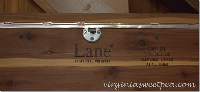 Lane Cedar Chest Markings