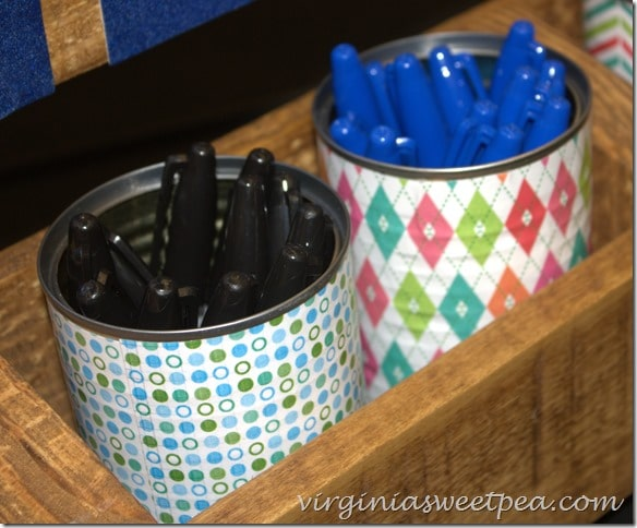 Sharpies from Office Max in upcycled cans #inspirestudents #teacherschangelives #pmedia #ad