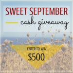 Sweet September $500 Cash Giveaway