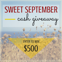 Sweet September$500 Cash Giveaway